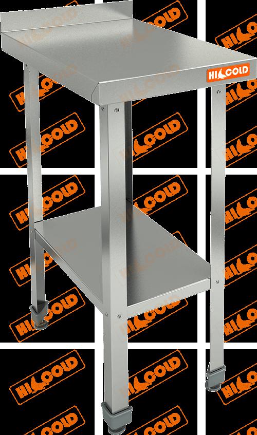 Стол пристенный с бортом и полкой  HICOLD  НСО-4/6БП ЭН