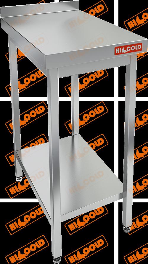 Стол производственный пристенный с бортом и полкой  HICOLD  НСО-4/7БП
