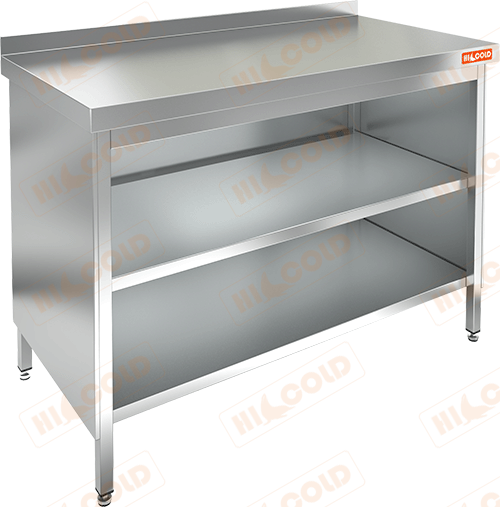 Стол производственный закрытый с 3-х сторон  HICOLD  НСЗО-10/6Б