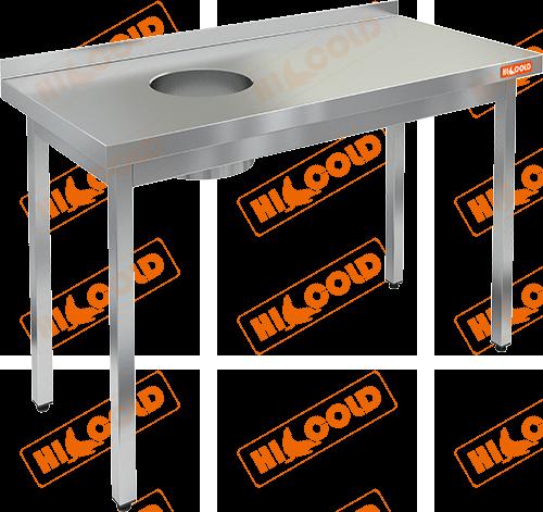 Стол производственный пристенный с бортом для сбора отходов  HICOLD  НДСО-13/7БЛ
