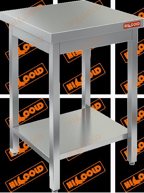 Стол нержавеющий разделочный центральный с полкой  HICOLD  НСО-6/7П