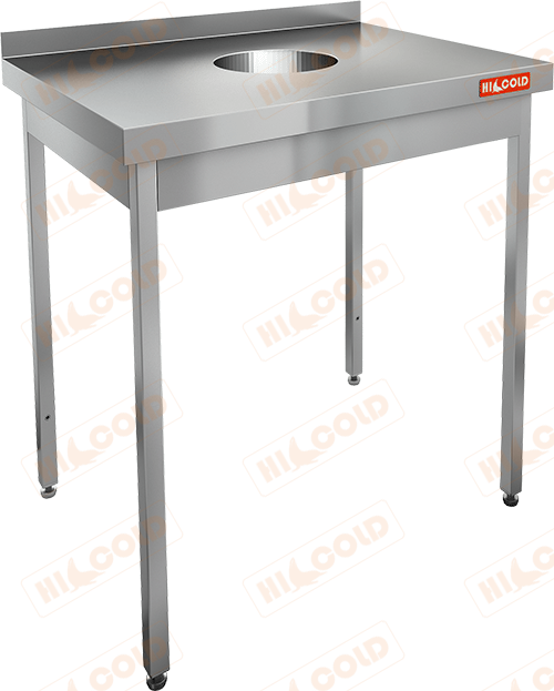 Стол производственный пристенный с бортом для сбора отходов  HICOLD  НДСО-8/7Б