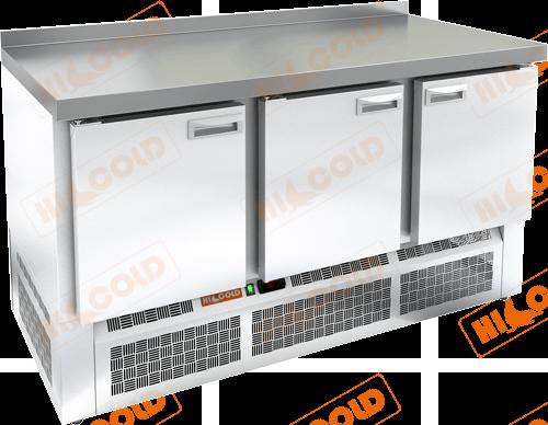 Стол охлаждаемый с полимерным покрытием (RAL 7004)  HICOLD  GNE 111/TN W