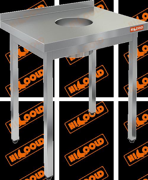 Стол производственный пристенный с бортом для сбора отходов  HICOLD  НДСО-6/7Б