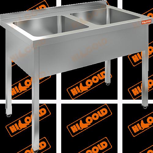 Ванна моечная двухсекционная  HICOLD  НСО2М-10/7Б